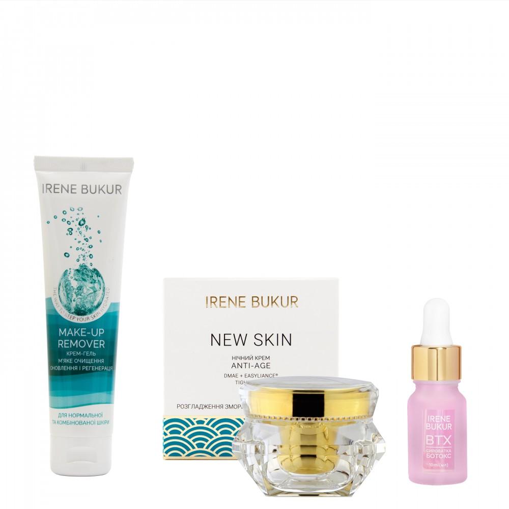 Вечірній догляд New Skin + з сироваткою Ботокс для нормальної та комбінованої шкіри