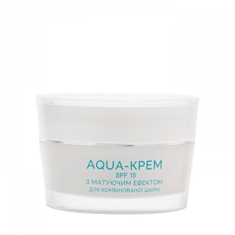 Aqua-крем матуючий з морським пробіотиком SPF 15 для нормальної та комбінованої шкіри, 45 мл