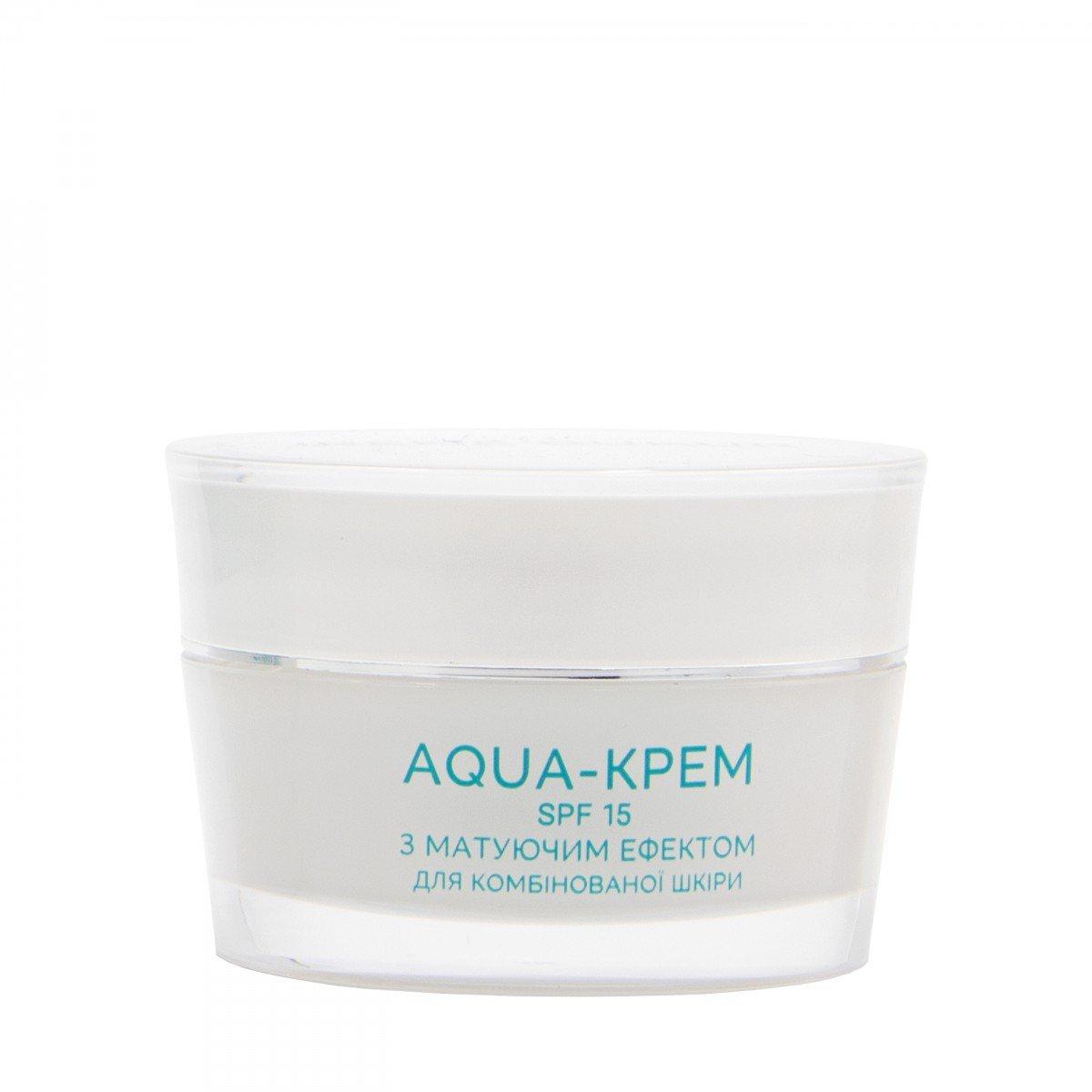 Aqua-крем матирующий с морским пробиотиком SPF 15 для нормальной и комбинированной кожи, 45 мл