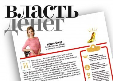 Ірина Букур в 20-ці найуспішніших бізнес-леді країни.