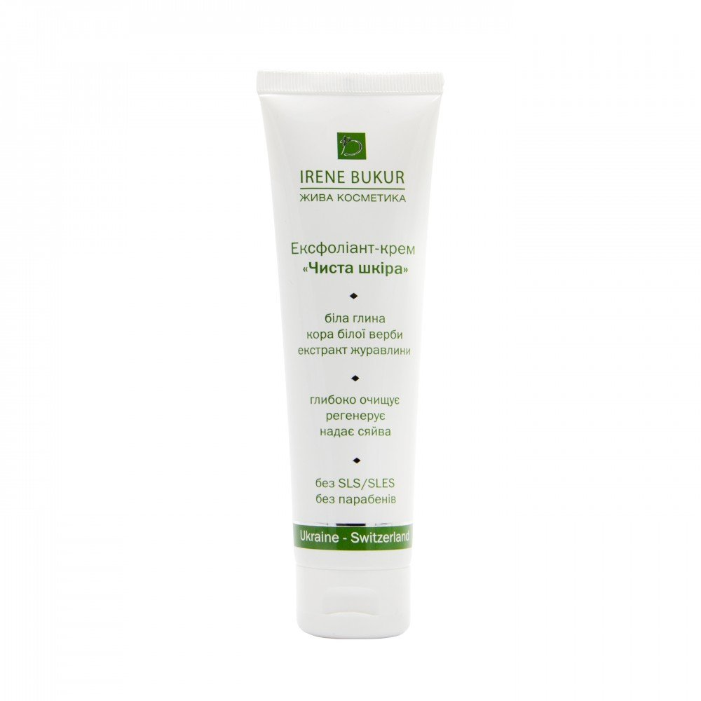 """Ексфоліант-крем """"Чиста шкіра""""для всіх типів шкіри з комплексом  Microderm , 100 мл"""